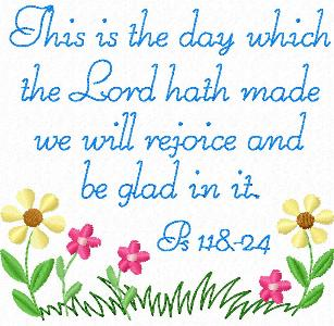 This is the day the Lord has made Let us rejoice and be